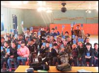 Students raising thier hand to answer a question © Mongolia